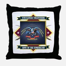 8th Kansas Volunteer Infantry Throw Pillow
