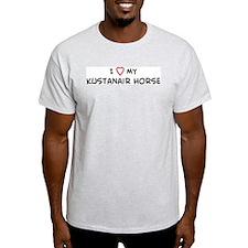 I Love Kustanair Horse Ash Grey T-Shirt
