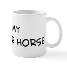 I Love Kustanair Horse Mug