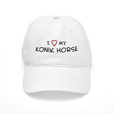 I Love Konik Horse Baseball Cap