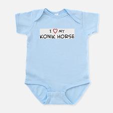 I Love Konik Horse Infant Creeper