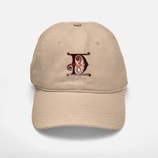 Gingerbread Style Letter D Baseball Baseball Cap