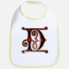 Gingerbread Style Letter D Bib