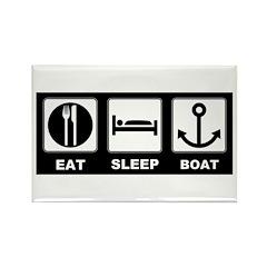 Eat Sleep Boat Rectangle Magnet (100 pack)