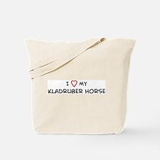 I Love Kladruber Horse Tote Bag