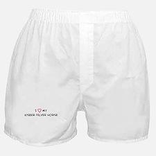 I Love Kisber Felver Horse Boxer Shorts