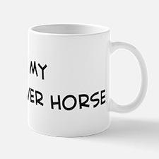 I Love Kisber Felver Horse Mug