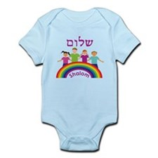 Rainbow Pink Shalom Infant Bodysuit