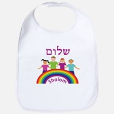 Rainbow Pink Shalom Bib