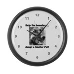 Help The Homeless Large Wall Clock
