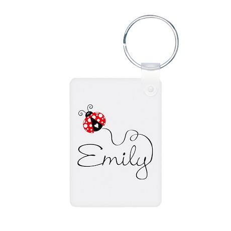 Ladybug Emily Aluminum Photo Keychain