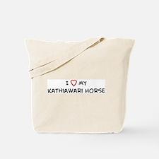 I Love Kathiawari Horse Tote Bag