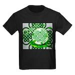 Celtic Artwork Designs Kids Dark T-Shirt
