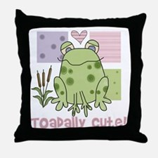 Toadally Cute Frog Throw Pillow