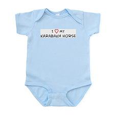 I Love Karabakh Horse Infant Creeper