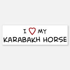I Love Karabakh Horse Bumper Bumper Bumper Sticker
