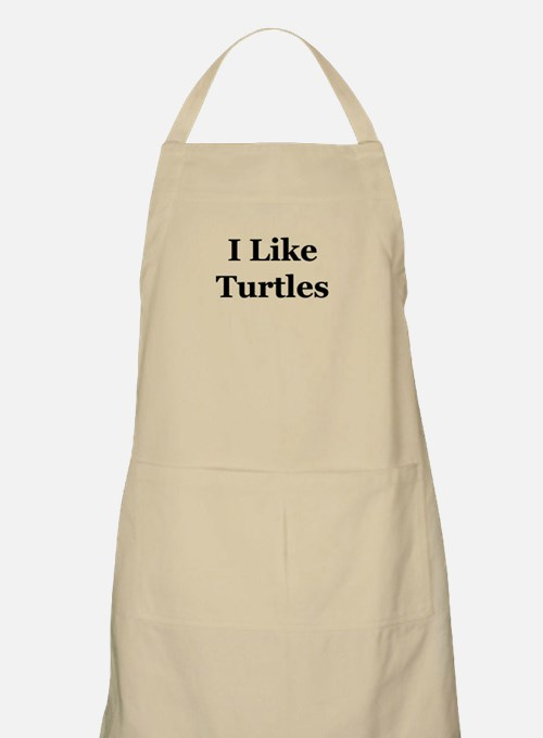 I Like Turtles Apron