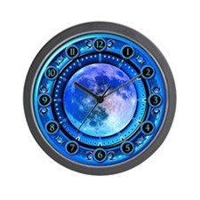 Clock of the Blue Moon Wall Clock