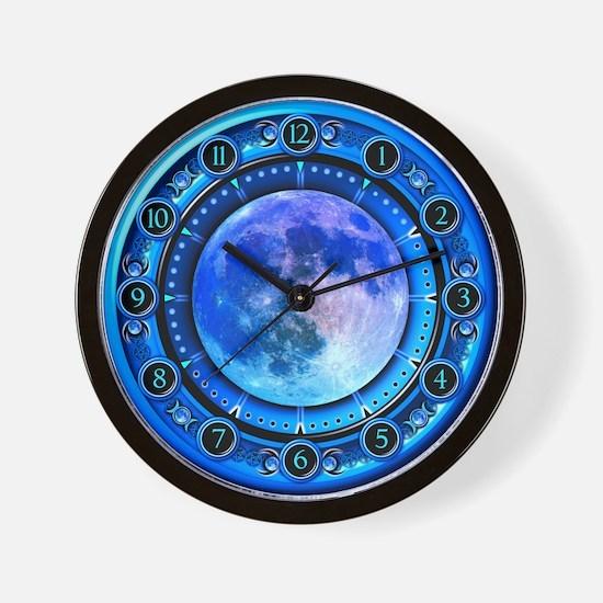 Clock of the Blue Moon Wall Clock