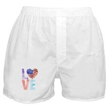 LOVE - PROUD TO BE AMERICAN Boxer Shorts