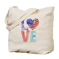 LOVE - PROUD TO BE AMERICAN Tote Bag