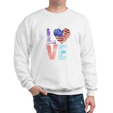 LOVE - PROUD TO BE AMERICAN Sweatshirt