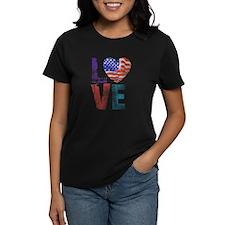 LOVE - PROUD TO BE AMERICAN Tee