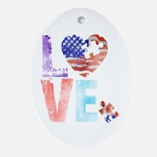 LOVE FOR AUTISM Ornament (Oval)