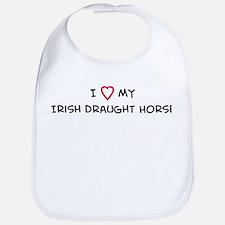 I Love Irish Draught Horse Bib
