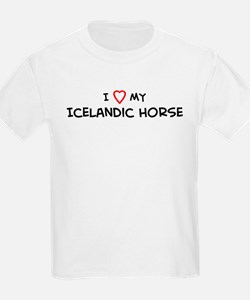 I Love Icelandic Horse Kids T-Shirt