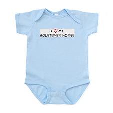 I Love Holsteiner Horse Infant Creeper