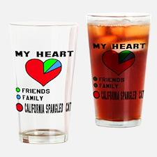 My Heart Friends Family California Drinking Glass