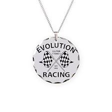 Evolution Racing Necklace Circle Charm