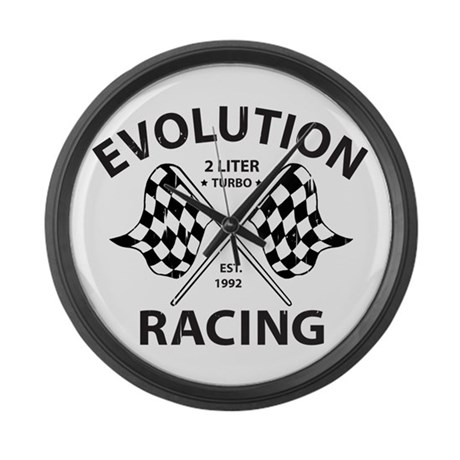 Evolution Racing Large Wall Clock