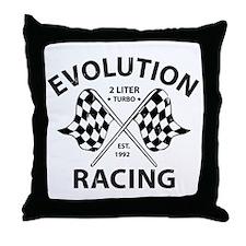Evolution Racing Throw Pillow