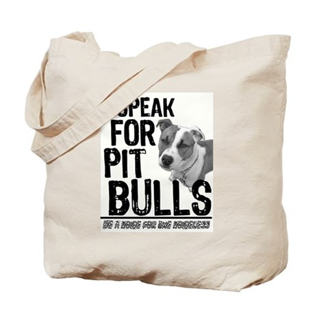 Speak for Pit Bulls Tote Bag