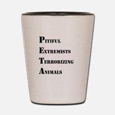 Anti-PETA Shot Glass