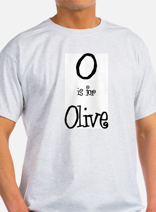 O Is For Olive Ash Grey T-Shirt