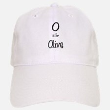 O Is For Olive Baseball Baseball Cap