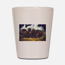 Cute Horses Shot Glass