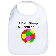 Soccer, Eat, Sleep & Breathe Bib