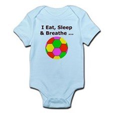 Soccer, Eat, Sleep & Breathe Infant Bodysuit