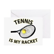 Tennis Racket Greeting Cards (Pk of 20)