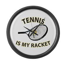 Tennis Racket Large Wall Clock