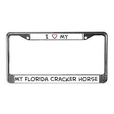 I Love Florida Cracker Horse License Plate Frame