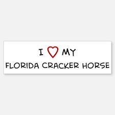 I Love Florida Cracker Horse Bumper Bumper Bumper Sticker