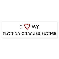 I Love Florida Cracker Horse Bumper Bumper Sticker