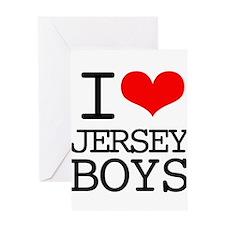 I Heart Jersey Boys Greeting Card