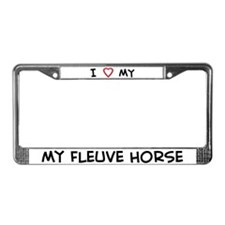 I Love Fleuve Horse  License Plate Frame