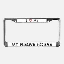 I Love Fleuve Horse  License Plate Frame